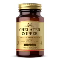 Chelated Copper - Miedź (Chelat Miedzi) 2,5 mg (100 tabl.) Solgar