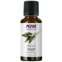 100% Olejek z Szałwii (Sage - Salvia officinalis) - Szałwia (30 ml) NOW Foods