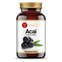 Acai ekstrakt - 5% antocyjanów 420 mg (90 kaps.) Yango