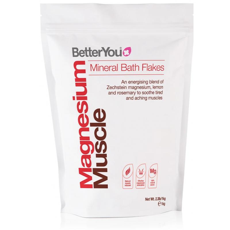 Magnesium Flakes Muscle - Płatki Magnezowe do kąpieli (1 kg) BetterYou