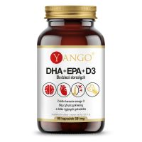 DHA + EPA + D3 - Kwasy Omega-3 250 mg + Witamina D3 200 IU (60 kaps.) Yango