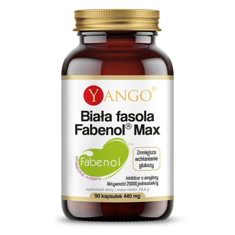 Biała fasola Fabenol Max - Ekstrakt z białej fasoli 350 mg (90 kaps.) Yango