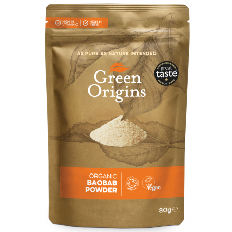 Organic Baobab Powder - Organiczny Baobab w proszku (80 g) Green Origins