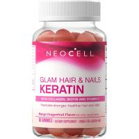 Glam Hair & Nails - Hydrolizowany Kolagen + Keratyna + Ekstrakt z borówki (60 żelek) NeoCell