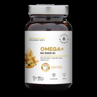 Omega+ Witamina D3 2000 IU /cholekalcyferol/ 50 mcg (60 kaps.) Aura Herbals