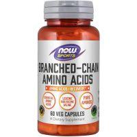BCAA (Branched Chain Amino Acids) - Aminokwasy rozgałęzione (60 kaps.) NOW Foods