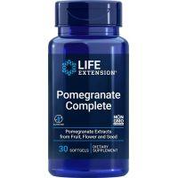 Granat - Pomegranate Complete - ekstrakt z owoców Granatu (Pomella) + olejek z Kwiatów i Nasion (30 kaps.) Life Extension
