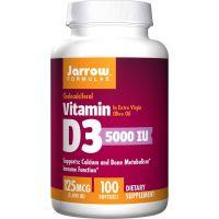 Witamina D3 5000 IU /cholekalcyferol/ 125 mcg (100 kaps.) Jarrow Formulas