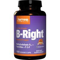 B complex B-Right - kompleks witamin z grupy B (100 kaps.) Jarrow Formulas