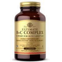 Ultimate B + C Complex - Kompleks Witamin z grupy B + Witamina C (90 tabl.) Solgar