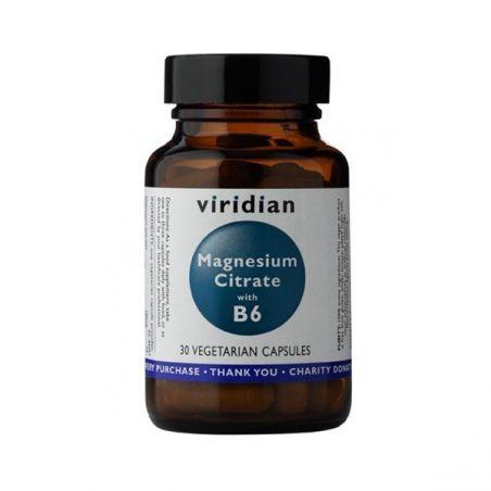 Cytrynian Magnezu i Witamina B6 (30 kaps.) Viridian