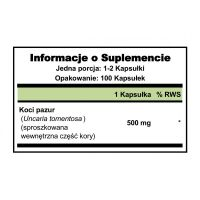 Cat's Claw - Koci Pazur 500 mg (100 kaps.) Puritan's Pride