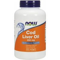 Cod Liver Oil - Tran 650 mg (250 kaps.) Now Foods