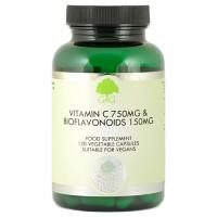 Witamina C 750 mg i Bioflawonoidy 150 mg (120 kaps.) G&G