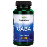 GABA - Kwas Gamma Aminomasłowy 500 mg (100 kaps.) Swanson