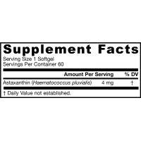 Astaksantyna 4 mg AstaPure (60 kaps.) Jarrow Formulas - etykieta