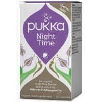 BIO Night Time - Kompleks ziół z Walerianą i Ashwagandhą - Nocny Spokój (60 kaps.) Pukka