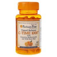 Witamina C z Bioflawonoidami i Dziką różą 1000 mg Powolne Uwalnianie (60 tabl.) Puritan's Pride