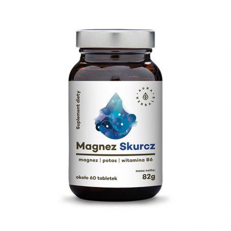 Skurcz Magnez - Potas + Cytrynian magnezu + Witamina B6 (60 tabl.) Aura Herbals