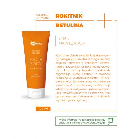 Rokitnik + Betulina - Krem Nawilżający Face+Body (100 ml) EkaMedica
