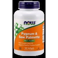 Pygeum (Śliwa Afrykańska) & Saw Palmetto (Palma Sabalowa) (120 kaps.) Now Foods