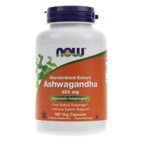 Ashwagandha 450 mg - Witanolidy 2,5% (180 kaps.) NOW Foods