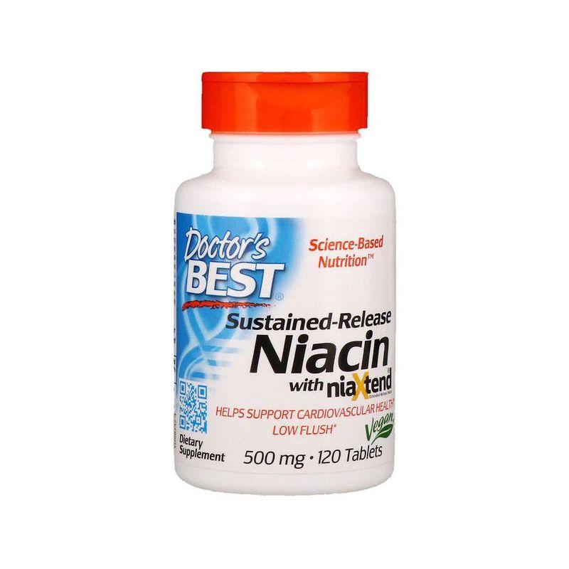 Witamina B3 NiaXtend - Niacyna 500 mg o przedłużonym uwalnianiu (120 tabl.) Doctor's Best