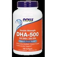 DHA - 500 DHA 250 EPA Kwas dokozaheksaenowy 500 mg (180 kaps.) Now Foods