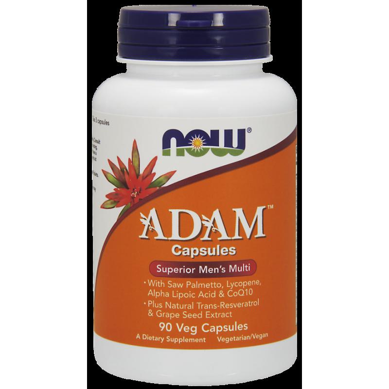 Multiwitamina i Składniki Mineralne dla Mężczyzn ADAM (90 kaps.) NOW Foods