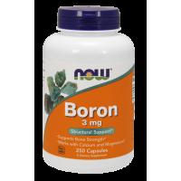 Boron - Bor 3 mg (250 kaps.) NOW Foods