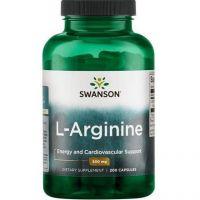 L-Arginina 500 mg (200 kaps.) Swanson