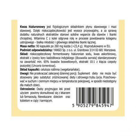 Kwas hialuronowy na stawy 260 mg (90 kaps.) Yango