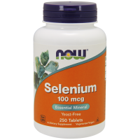 Selenium - Selen 100 mcg (250 tabl.) NOW Foods
