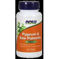 Pygeum (Śliwa Afrykańska) & Saw Palmetto (Palma Sabalowa) (60 kaps.) NOW Foods