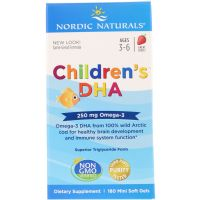 Childrens DHA 250 mg - DHA i EPA dla dzieci o smaku truskawkowym (180 kaps.) Nordic Naturals