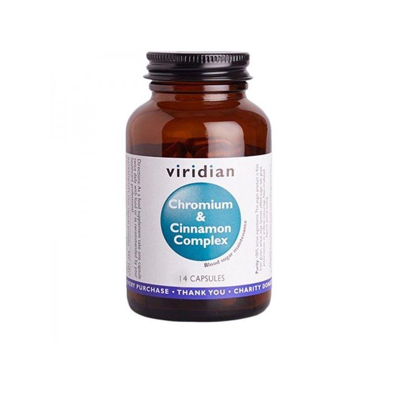 Kompleks Chrom i Cynamon - Sugar Detox (14 kaps.) Viridian
