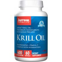 Krill Oil - Olej z Kryla 600 mg i Astaksantyna 120 mg (60 kaps.) Jarrow Formulas