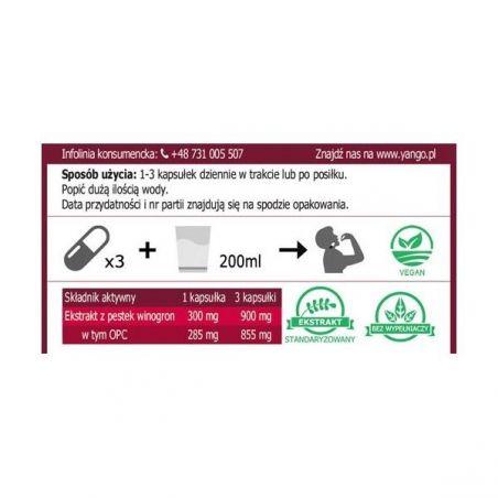 OPC 95% - Ekstrakt z Pestek Winogron (90 kaps.) Yango
