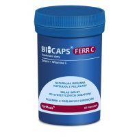Bicaps Ferr C - Witamina C (kwas L-Askorbinowy) + Fumaran Żelaza (Żelazo) (60 kaps.) ForMeds