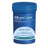 Bicaps ADEK - Zestaw witamin A + D + E + K (60 kaps.) ForMeds
