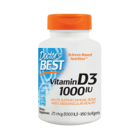 Witamina D3 1000 IU (180 kaps.) Doctor's Best