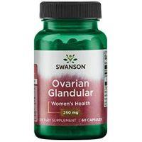 Ovarian Glandular 250 mg - tkanka bydlęca gruczołu Jajnika (60 kaps.) Swanson