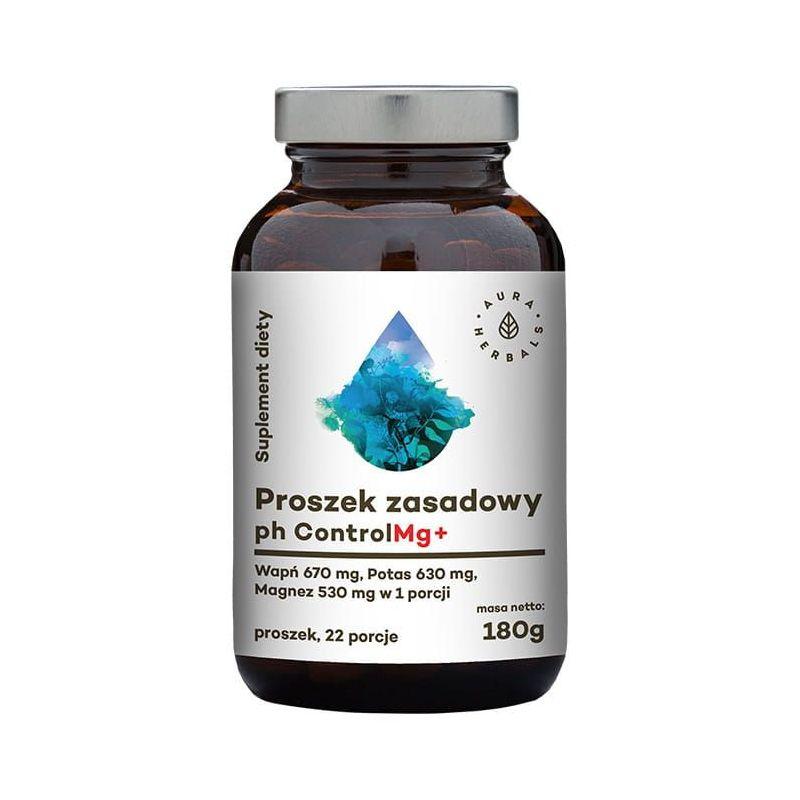 Proszek zasadowy pH Control Mg+ (180 g) Aura Herbals