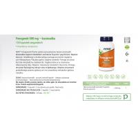 Fenugreek - Kozieradka 500 mg (100 kaps.) NOW Foods