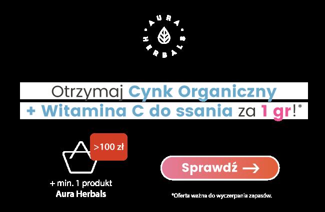 Cynk organiczny + Witamina C Aura Herbals za 1 grosz